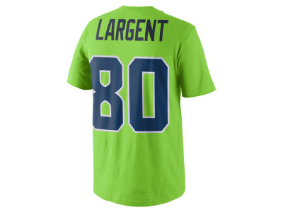 Seattle Seahawks Steve Largent Nike NFL Men's Color Pack Name & Number T-Shirt
