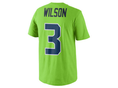 Seattle Seahawks Russell Wilson Nike NFL Men's Color Pack Name & Number T-Shirt