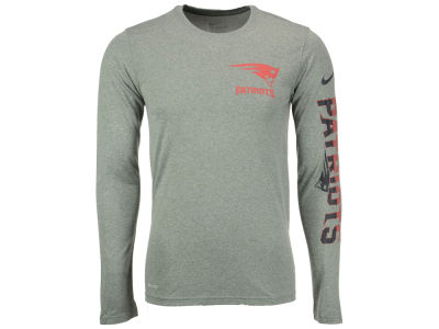 New England Patriots Nike NFL Men's Trainspeed Long Sleeve Legend T-Shirt