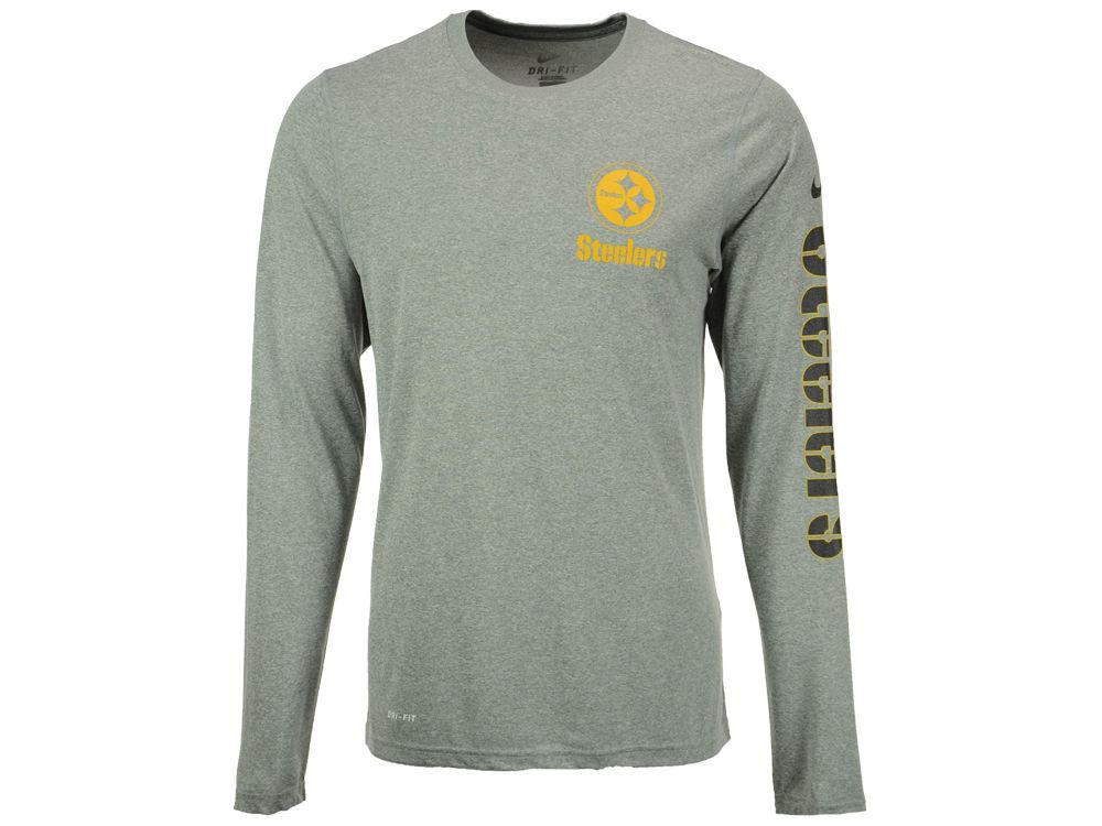 fc3d50d4a Pittsburgh Steelers Nike NFL Men s Trainspeed Long Sleeve Legend T-Shirt