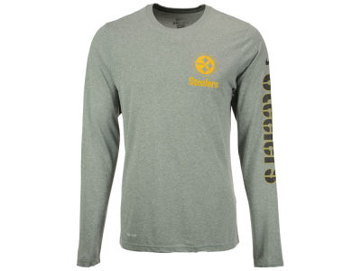 Pittsburgh Steelers Nike NFL Men's Trainspeed Long Sleeve Legend T-Shirt