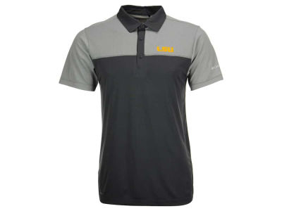 LSU Tigers Columbia NCAA Men's First Nine Polo Shirt