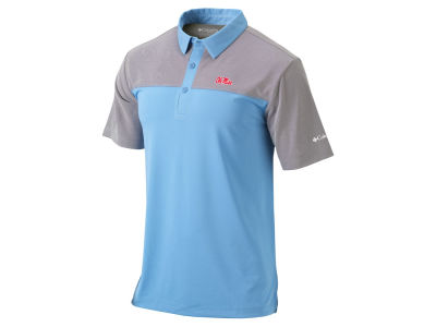 Ole Miss Rebels Columbia NCAA Men's First Nine Polo Shirt