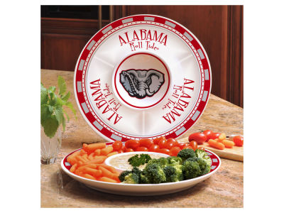 Alabama Crimson Tide Ceramic Chip & Dip Plate