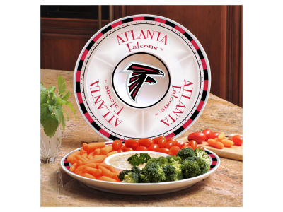 Atlanta Falcons Ceramic Chip & Dip Plate