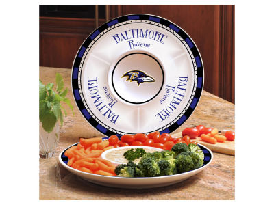 Baltimore Ravens Ceramic Chip & Dip Plate