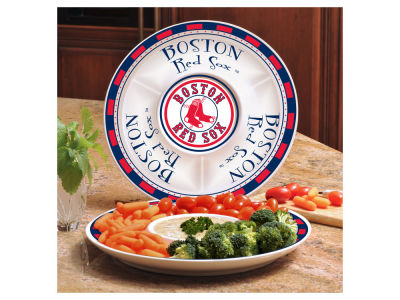 Boston Red Sox Ceramic Chip & Dip Plate