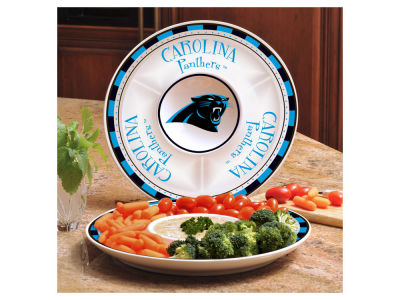 Carolina Panthers Ceramic Chip & Dip Plate