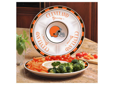 Cleveland Browns Ceramic Chip & Dip Plate