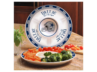 Dallas Cowboys Ceramic Chip & Dip Plate