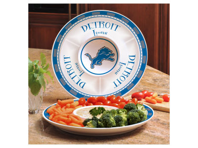 Detroit Lions Memory Company Ceramic Chip & Dip Plate