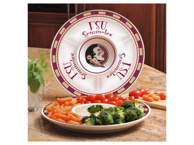 Florida State Seminoles Ceramic Chip & Dip Plate