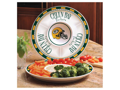 Green Bay Packers Ceramic Chip & Dip Plate