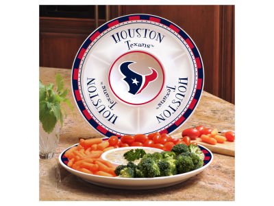 Houston Texans Ceramic Chip & Dip Plate