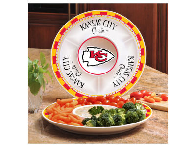 Kansas City Chiefs Ceramic Chip & Dip Plate