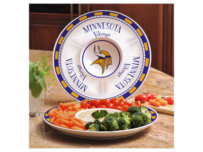 Minnesota Vikings Ceramic Chip & Dip Plate
