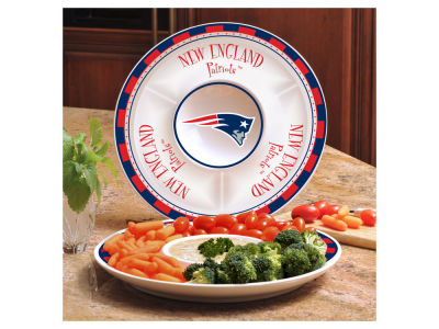 New England Patriots Ceramic Chip & Dip Plate