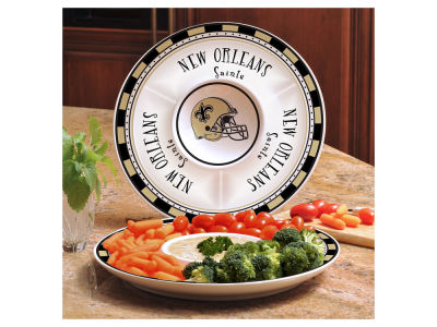 New Orleans Saints Ceramic Chip & Dip Plate