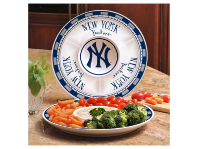 New York Yankees Ceramic Chip & Dip Plate