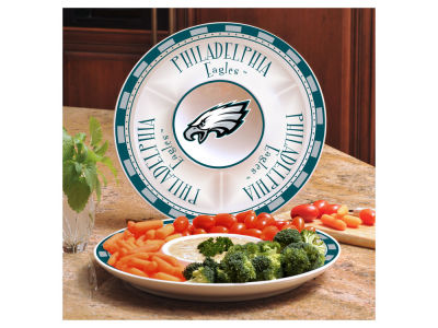 Philadelphia Eagles Ceramic Chip & Dip Plate