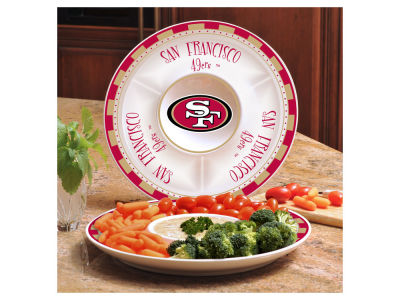 San Francisco 49ers Ceramic Chip & Dip Plate