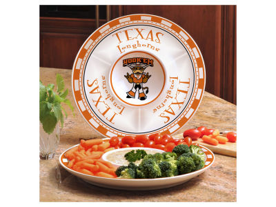 Texas Longhorns Ceramic Chip & Dip Plate
