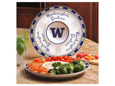 Washington Huskies Ceramic Chip & Dip Plate