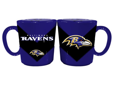 Baltimore Ravens Chevron Style Salt & Pepper Shakers