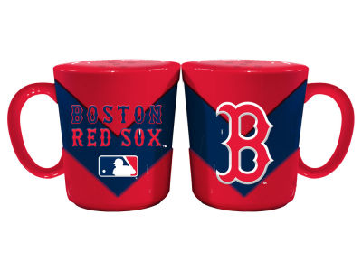 Boston Red Sox Chevron Style Salt & Pepper Shakers