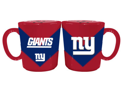 New York Giants Memory Company Chevron Style Salt & Pepper Shakers