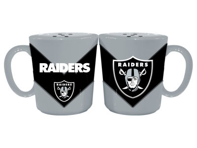 Oakland Raiders Chevron Style Salt & Pepper Shakers