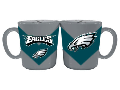 Philadelphia Eagles Chevron Style Salt & Pepper Shakers
