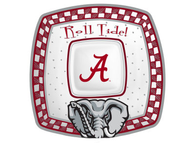 Alabama Crimson Tide Gameday Ceramic Chip & Dip Plate