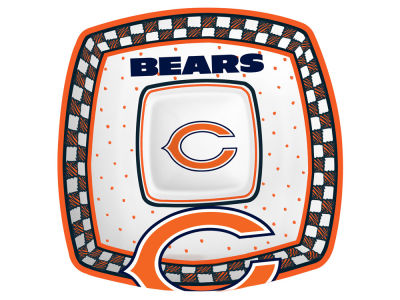 Chicago Bears Gameday Ceramic Chip & Dip Plate