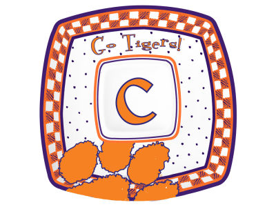 Clemson Tigers Gameday Ceramic Chip & Dip Plate