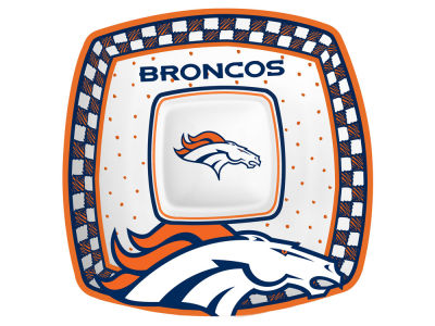 Denver Broncos Gameday Ceramic Chip & Dip Plate