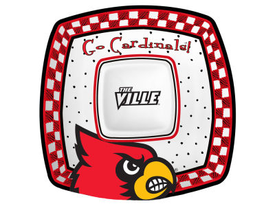 Louisville Cardinals Memory Company Gameday Ceramic Chip & Dip Plate