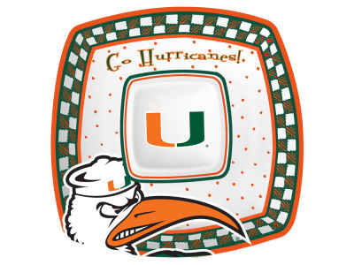 Miami Hurricanes Gameday Ceramic Chip & Dip Plate