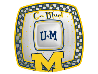Michigan Wolverines Gameday Ceramic Chip & Dip Plate