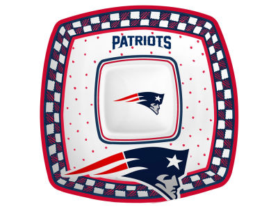 New England Patriots Gameday Ceramic Chip & Dip Plate