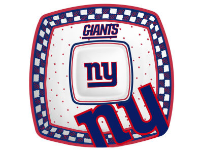 New York Giants Gameday Ceramic Chip & Dip Plate