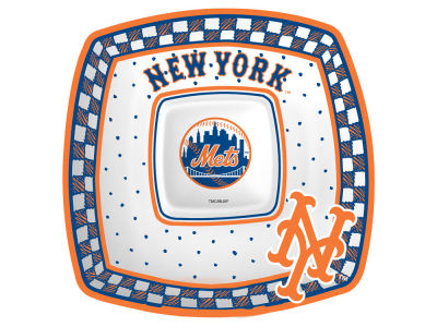 New York Mets Memory Company Gameday Ceramic Chip & Dip Plate