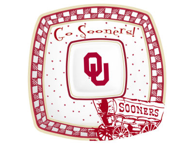Oklahoma Sooners Gameday Ceramic Chip & Dip Plate