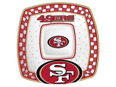 San Francisco 49ers Gameday Ceramic Chip & Dip Plate