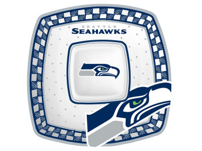Seattle Seahawks Gameday Ceramic Chip & Dip Plate