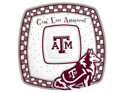 Texas A&M Aggies Gameday Ceramic Chip & Dip Plate