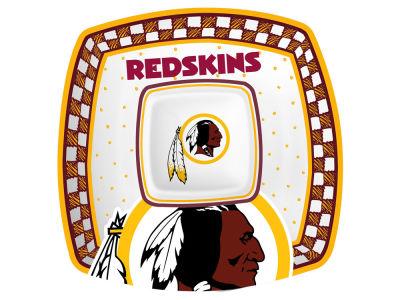 Washington Redskins Gameday Ceramic Chip & Dip Plate
