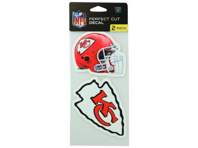 Kansas City Chiefs 2-pack 4x4 Die Cut Decal