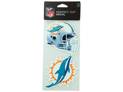 Miami Dolphins 2-pack 4x4 Die Cut Decal