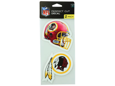 Washington Redskins 2-pack 4x4 Die Cut Decal